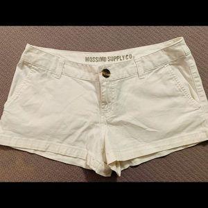 White MossimoJuniors Jeans Shorts